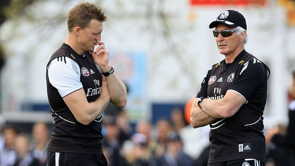 Nathan Buckley and Mick Malthouse. (Getty)