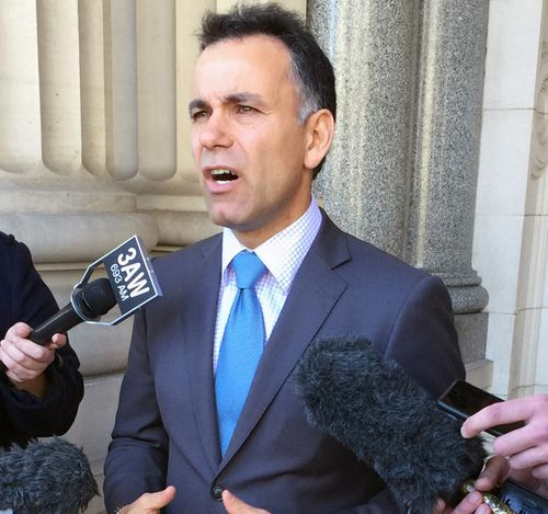 Victorian shadow-attorney general John Pesutto speaks to the media outside Parliament House, Melbourne, Thursday, July 2, 2015
