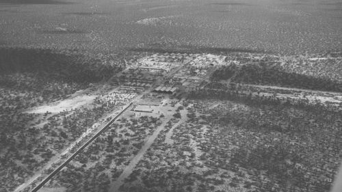 File photo of Maralinga village in South Australia as seen from the north-east in 1956. (AAP)