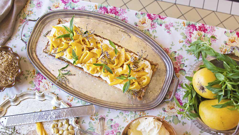 The Grounds' macadamia and mango tart