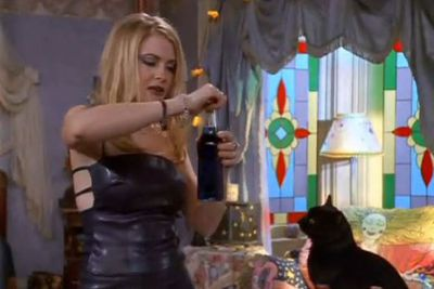 Well no wonder she spoke to a cat on <i>Sabrina the Teenage Witch</i>...<br/><br/>(Image: Paramount Television)