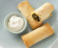 Lamb and spinach curry parcel