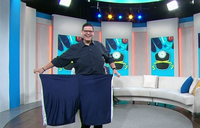 Mr Zed unveiled his weight loss in the Today studio.