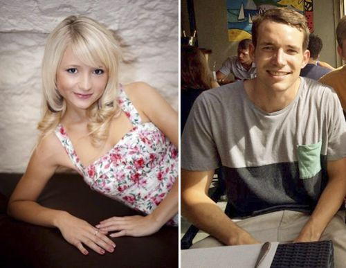 Hannah Witheridge (L) and David Miller (R), who were found murdered on the island of Koh Tao in Thailand on 15 September 2014.