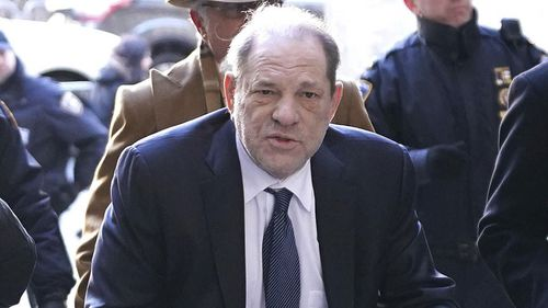 2/21/20 Harvey Weinstein is seen arriving at Manhattan Criminal Court in New York City as jury deliberations continue in his rape trial. (NYC)