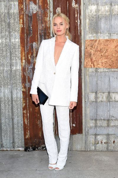 Margot Robbie in Givenchy at the Givenchy fashion show during Spring 2016 New York Fashion Week on September 11, 2015