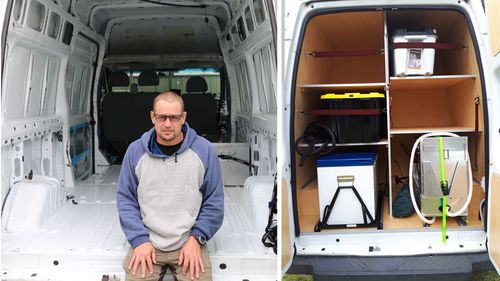 In late October, Matt Walsh moved into a van he had stripped and refitted with materials he would not react to.