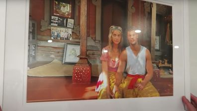 Anna and Josh also hung a painting of themselves they had done on a trip to Bali.