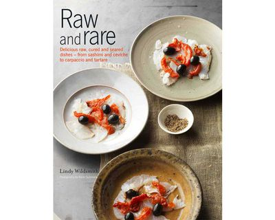 """<a href=""""https://www.murdochbooks.com.au/browse/books/cooking-food-drink/food-drink/Raw-and-Rare-Lindy-Wildsmith-9781910254158"""" target=""""_top""""><em>Raw and Rare</em> by Lindy Wildsmith (Murdoch Books), RRP $39.99.</a>"""