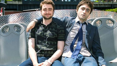 Daniel Radcliffe tours New York with his own 'corpse' to promote new film