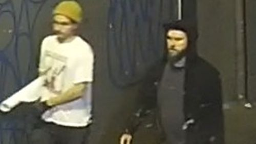 Police release pictures of men they want to speak to over offensive Abbott posters