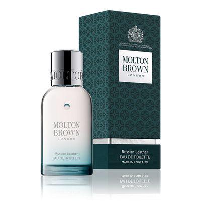 """<a href=""""https://www.moltonbrown.com.au/store/fragrance/eau-de-toilette/russian-leather-eau-de-toilette/KEJ083/"""" target=""""_blank"""" title=""""Molton Brown Russian Leather Eau De Toilette, $88"""" draggable=""""false"""">Molton Brown Russian Leather Eau De Toilette, $88</a>"""