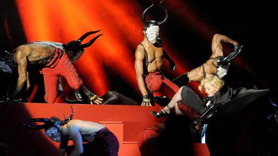 Madonna stacks it at the Brit Awards