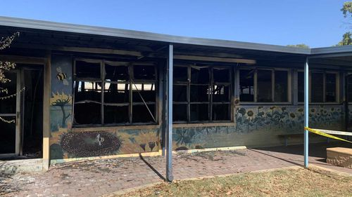 Police are investigating the arson attack at Hampstead Primary School.