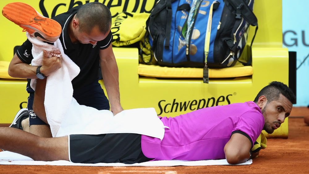 Nick Kyrgios withdraws from Rome tournament with hip problem in blow for French Open