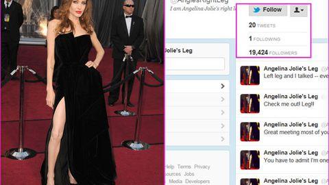 Angelina Jolie's right leg has over 20,000 followers on Twitter