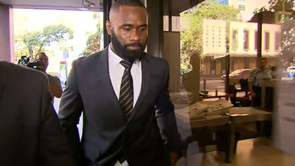 Parramatta winger Semi Radradra appeared in court on Monday. (Channel Nine)