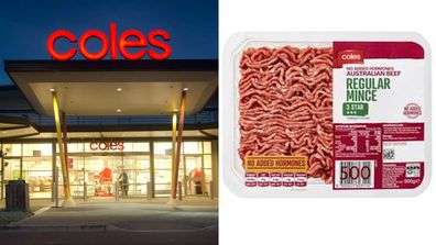Coles mince beef