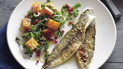 "<a href=""http://kitchen.nine.com.au/2016/05/05/15/24/pete-evans-panfried-whiting-with-pumpkin-and-kale-salad"" target=""_top"">Pete Evans' pan-fried whiting with pumpkin and kale salad<br> </a>"
