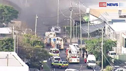 The fire in Manilla Street. (9NEWS)