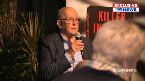 Dr Donald Grant at the book launch. Picture: 9NEWS