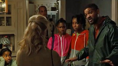 Will Smith in King Richard playing Venus and Serena Williams' dad