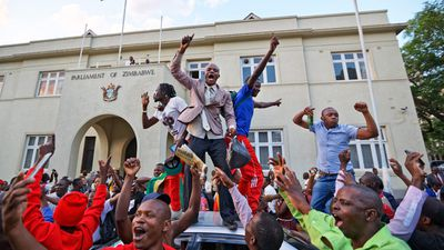 <strong>In pictures: Joyous scenes after Mugabe resigns as president</strong>