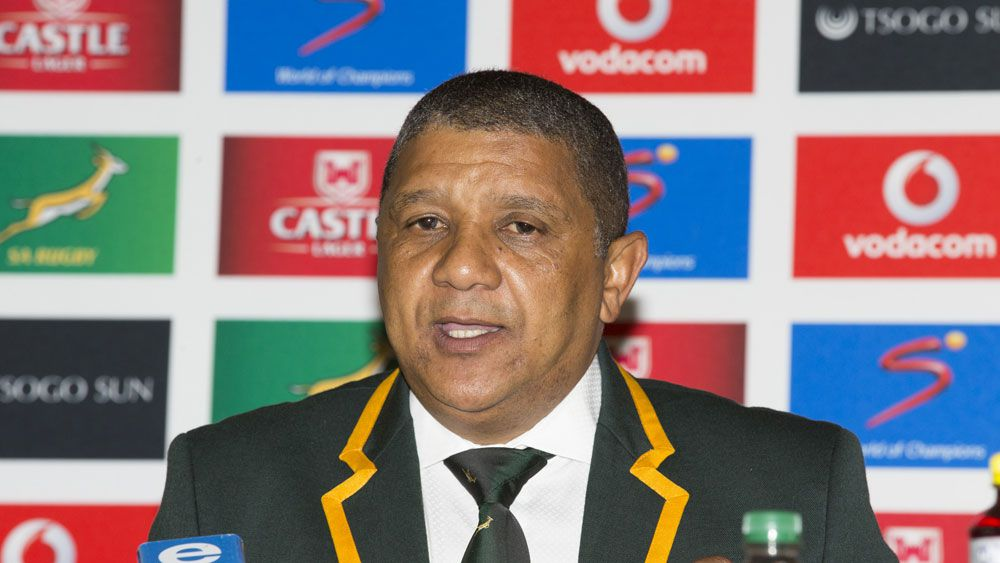 "Springboks coach Allister Coetzee has tipped a ""physical onslaught"" against Australia after shuffling his backline and picking six bench forwards for Saturday night's Rugby Championship Test.(Getty)"