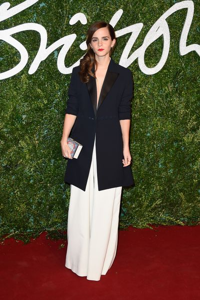 Emma Watson in Misha Nonoo at the British Fashion Awards in London, December, 2014