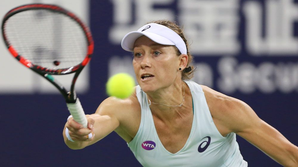 Samantha Stosur had a disappointing night in China. (Getty Images)