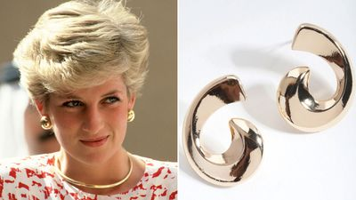 Princess Diana's gold earrings