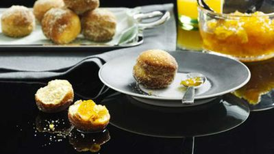 Fennel bomboloni with orange jam