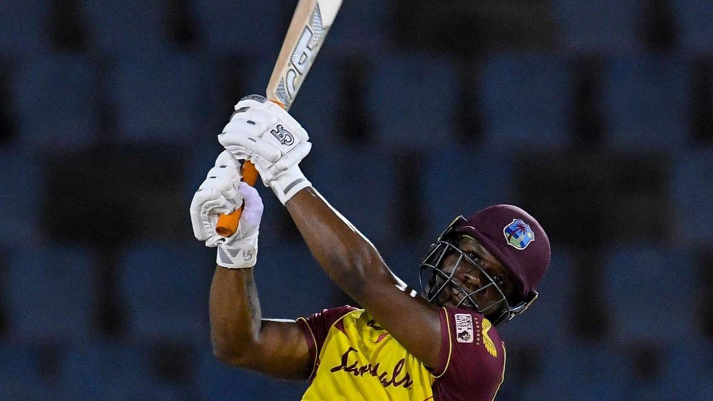 Opener Evin Lewis blasts incredible knock as West Indies trump Australia in final T20