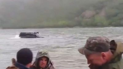 "<p>In Russia they take the term ""going off road"" quite literally. </p><p> Some epic Ruskis put their Toyota Land Cruiser to the test by driving it down the middle of a river. </p><p> Maybe something was lost in the translation but it's really just par for the course in Russia. </p><p> Just look at off-roaders' faces — all smiles and laughing. </p><p> And they are not in the minority of the countrymen and women who have really embraced the term <a href=""http://www.mediaite.com/tv/the-daily-show-learns-what-russia-is-really-all-about-%E2%80%98don%E2%80%99t-be-a-pussy%E2%80%99/"">""Don't be soft""</a>.</p><p> Yep, those crazy Russians sure like to do now and think later. </p><p> Take a look at this collection of Russians doing what Russians do best and ponder the fact that <a href=""http://www.theguardian.com/world/2014/jan/31/russian-men-losing-years-to-vodka"">one in four Russian men die before they turn 55 because of vodka</a>.  </p><p> </p>"