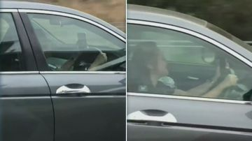 Driver caught using FaceTime while on busy freeway