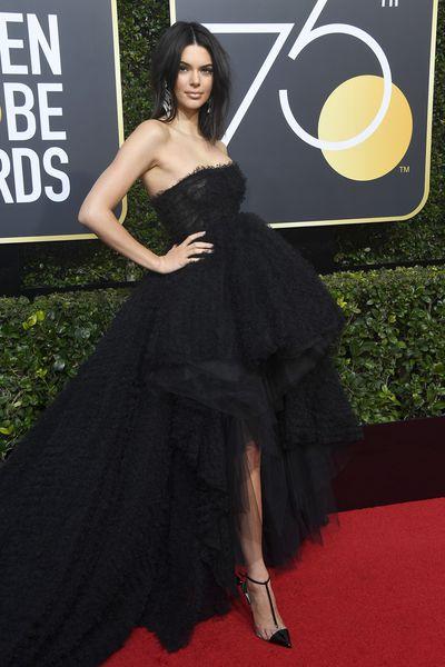 Model Kendall Jenner in Giambattista Valli