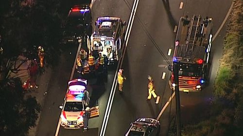 The young woman died at the scene, while her father was taken to hospital in a critical condition. (9NEWS)