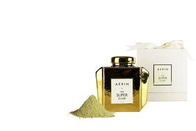 "<a href=""http://shop.davidjones.com.au/djs/en/davidjones/limited-edition-aerin-x-the-super-elixir-gold-caddy-600g"" target=""_blank"">Aerin + The Super Elixir Gold Caddy, $275.</a>"