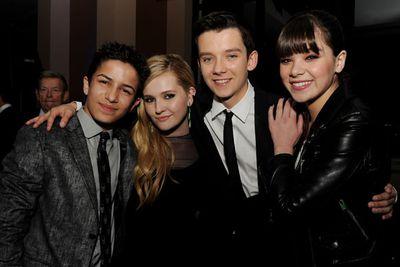 <i>Ender's Game</i> cast Aramis Knight, Abigail Breslin, Asa Butterfield and Hailee Steinfeld.