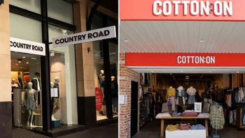 Country Road and Cotton On store fronts