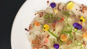 Willin Low's barramundi carpaccio with calamansi chilli dressing