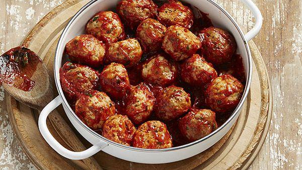 Spanish chorizo and pork balls