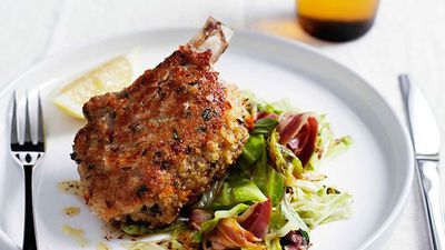 """Recipe: <a href=""""http://kitchen.nine.com.au/2016/05/13/13/13/pork-costolette-with-cabbage-and-pancetta"""" target=""""_top"""">Pork costolette with cabbage and pancetta</a><br /> <br /> More: <a href=""""http://kitchen.nine.com.au/2017/03/07/09/29/pork-chops-and-cutlets"""" target=""""_top"""">pork chop and cutlet recipes</a>"""