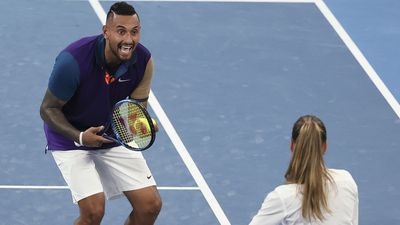Kyrgios loses it over net cord machine, umpire stays cool