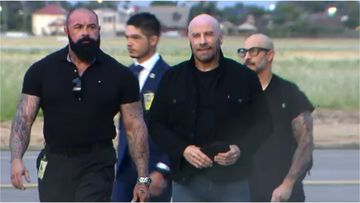 John Travolta has pleased fans, jetting into Adelaide early this morning for the Supa Nova pop culture expo.