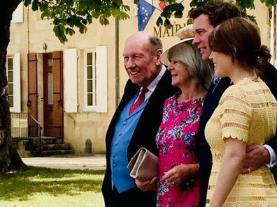 Princess Eugenie and Jack Brooksbank with Jack's parents