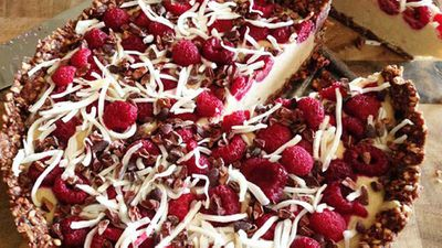 "Recipe: <a href=""http://kitchen.nine.com.au/2016/05/20/10/28/kara-conroys-raw-coconut-raspberry-cacao-cake"" target=""_top"">Kara Conroy's raw coconut raspberry cacao cake</a>"