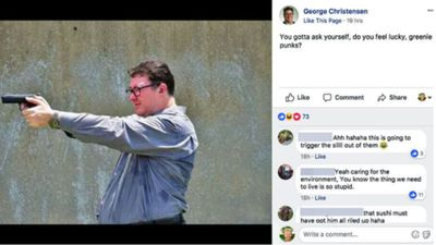 Activist refers Christensen to police over gun post