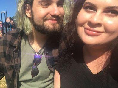 Kiara Adoranti with boyfriend Liam Hendy.