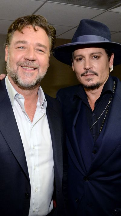 Russell Crowe and Johnny Depp